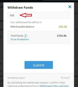 Etoro Withdrawals review and Deposits